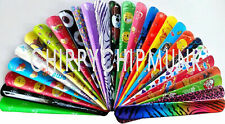 Bulk Lot x 30 Mixed Wrist Snap Slap Bands Novelty Toys Kids Party Favor