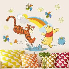 Winnie the Pooh Rainbow Wall Stickers Decal Vinyl Mural DIY Kids Baby Room Decor