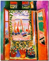 """Henri Matisse CANVAS PRINT The Open Window Painting poster 24""""X18"""""""