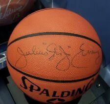 DR. J Julius Erving signed basketball