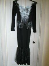 WOMEN'S HALLOWEEN BAT DRESS COSTUME/FANCYDRESS SIZE 12-14 BLACK NEW BNWT