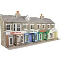 Low relief terraced shops stone - OO/HO Card kit – Metcalfe PO273