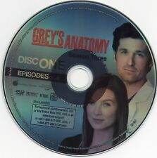 Grey's Anatomy DVD - Season 3: Episodes 1-4 . Replacement . Disc 1 ONLY