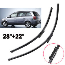 Set of 2 Windscreen Flat Wiper Blades Front Window For Opel Zafira B Vauxhall