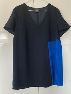 Marina Rinaldi Tunic Top in Navy Blue, Size 18 in excellent condition