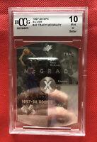 1997-98 SPX #42 Tracy McGrady Rookie Card Beckett Grading 10 GEM-MT (PSA 10).
