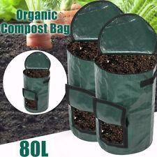 More details for heavy duty garden waste bags 80l reusable gardening leaf large compost bin bag