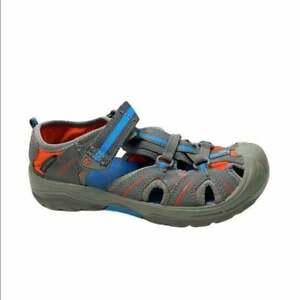 Merrell boys waterproof hiking sandals 3 gray