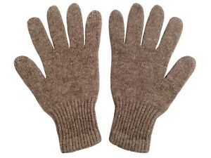 Very warm soft 100% Yak Wool Light Brown Gloves,1 pair.Made in Mongolia.