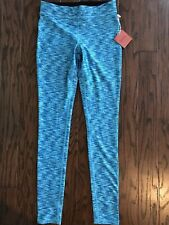Mossimo Women's Teal Space Dye Print Compression Fit Yoga Pants, Size Small