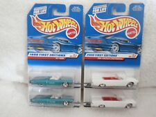 Lot of 4:  Hot Wheels:  1998 & 2000 FIRST EDITIONS  '63 T-Bird & 1964 Lincoln