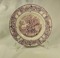 "Royal Staffordshire Transferware Mulberry Purple 6.5"" Bread Plate Clarice Cliff"