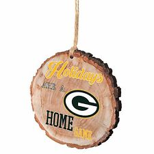 Green Bay Packers Christmas Tree Ornament Stump New - Holidays are a Home Game