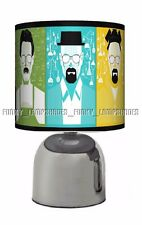 BREAKING BAD ☆ BEDSIDE TOUCH LAMP ☆ ADULT GIFT ☆ BLACK & CHROME TABLE LAMP