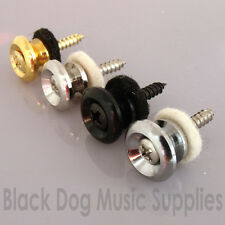 Quality guitar strap pin button in chrome black nickel  or gold