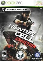 Xbox 360 Live Game Tom Clancy's Splinter Cell: Conviction - Complete With Manual