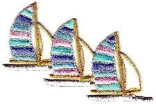 Sailboats Iron On Patch Nautical Sailing Ocean Boats