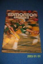 1971 EDMONTON Eskimos Yearbook CFL Canadian Football League GREG PIPES Lagrone