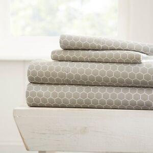 Ultra Soft Premium 4 Piece Printed Bed Sheet Set by Linen Market