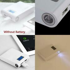 3800mah Dual USB 5V Power Bank 18650 Battery Charger Case For Phone - White JG