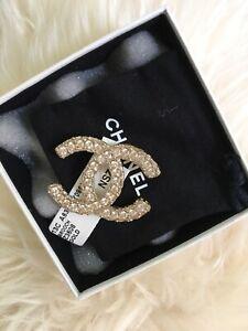 NIB 100% AUTH Chanel 13C A63659 Matte Pink Rhinestone Pin Brooch