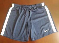 Nike Dri Fit Soccer Shorts Women's Navy Blue White Side Strip Medium