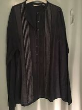 Country Road navy and white stitched shirt in size XL