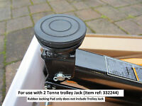 Trolley Jack Saddle Pad for HALFORDS 2 tonne hydraulic - rubber classic car