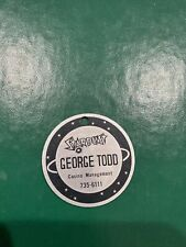 $1000 Stardust Casino Metal Business Card Chip George Todd