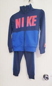 Nike Little Boys 2 Pc Core Tricot Tracksuit Set Navy Sz 6 - NWT