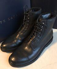 New $1100 Ralph Lauren Purple Label Mens Shearling Lined Boots Shoes Black 12 US