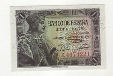 Spain España 1 Peseta 1943 Pick 126 UNC Uncirculated Banknote