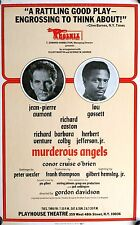 "MURDEROUS ANGELS BROADWAY WINDOW CARD POSTER  22"" X 14"" JEAN-PIERRE AUMONT"