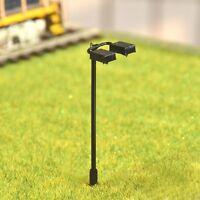 S203 - 10 Stück Straßenlampen mit LED 2-flammig 5,5cm Set Lampen für Bahnsteig