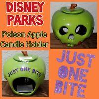 Disney Park Poison Apple Just One Bite Halloween Votive Candle Holder Snow White