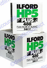 2 x ILFORD HP5 400 35mm 36exp  CHEAP BLACK & WHITE CAMERA FILM by 1st CLASS POST