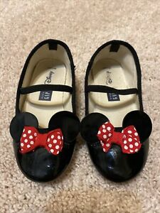 Gap Minnie Mouse Patent Leather Shoes Toddler Girls Sz 8 Disney