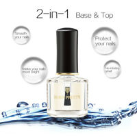 BORN PRETTY 6ml 2-in-1 Base Coat Top Coat Nail Polish Water Based Nail Art Care