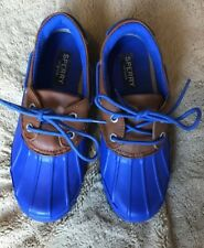 SPERRY TOP-SIDER RAIN DUCK SHOES BALTIC BLUE SIZE 5 NEW