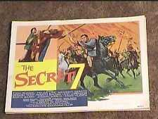 SECRET SEVEN 1966 LOBBY CARD #2 SWORD & SANDAL