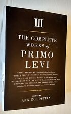 Complete Works of Primo Levi Volume III ONLY 2015 Hardcover Poems Fiction Essays