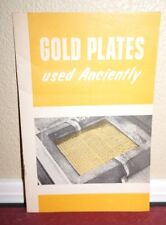 Gold Plates Used Anciently Book of Mormon LDS 1963 1STED Rare Vintage Pamphlet