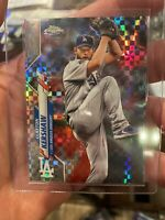2020 TOPPS CHROME PRIZM WAVE XFRACTOR CLAYTON KERSHAW DODGERS CARD # 122 🔥⚾️