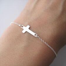 Bracelet fin motif croix en argent 925 BR172