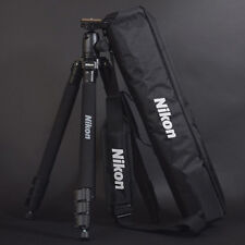 "Genuine Nikon Mirrorless D-SLR SLR RF Camera Tripod 63"" w/ Head+Plate+Case+Strap"
