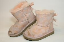 UGG Australia Uggs Toddler Girls 11 28 Bailey Bow Pink Sheepskin Boots 1091969T