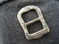 Very nice 1600 hundreds bronze buckle uncleaned condition found in Britain L40p