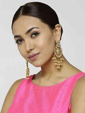 Indian Bollywood Bridal Gold Plated Kundan Earring Jhumki Wedding Fashion Jewelr