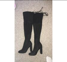 Inthestyle Over The Knee Suede Boots Size 4
