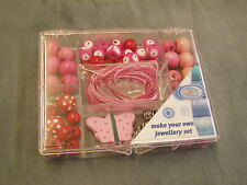 JEWELRY STARTER KIT,BEADS,WOOD CORD Butterfly NEW
